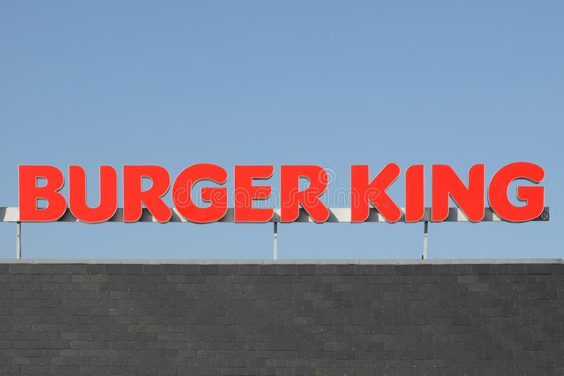 Burger King snabbmatkedja royaltyfri fotografi