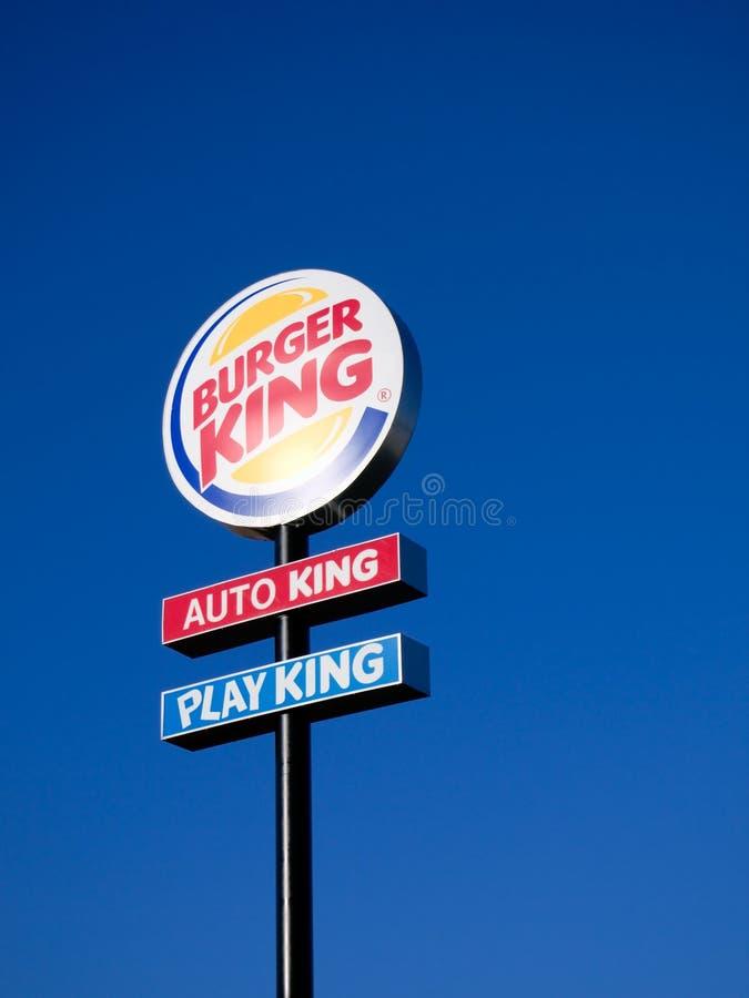 Burger King tecken arkivbild