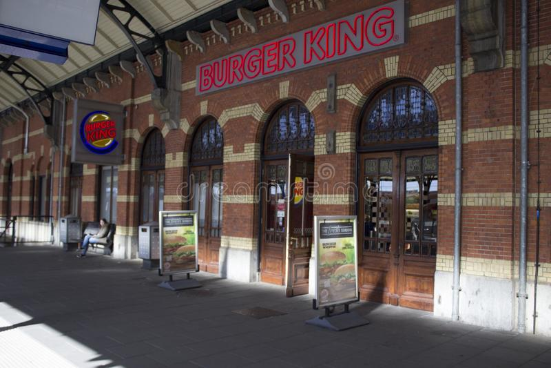 Burger King trainstation Groningen stock photo