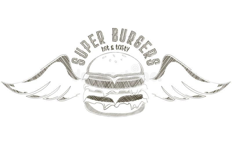 Burger-Logo vektor abbildung