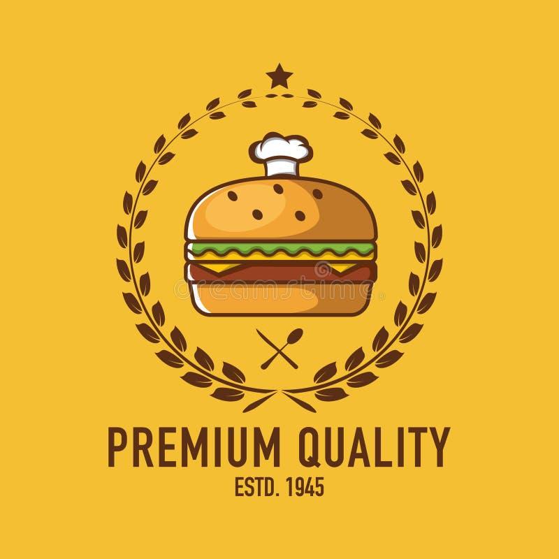 Burger Logo, Cafe Logo, Restaurant Logo, Burger Cartoon