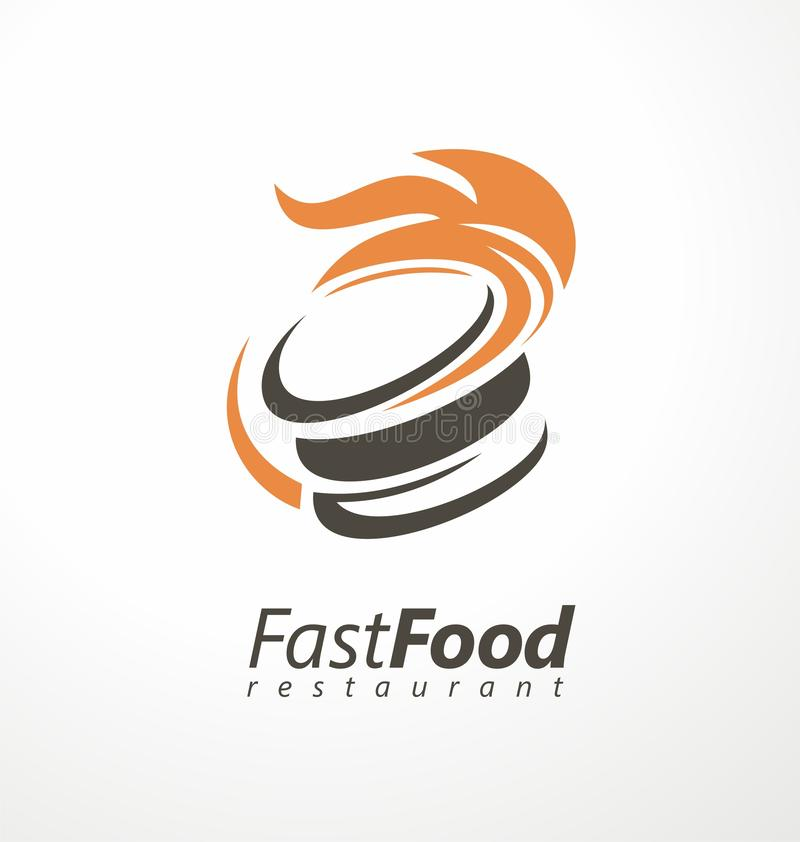 Burger Logo For Fast Food Restaurant Stock Vector Illustration Of Design Dinner 159248075