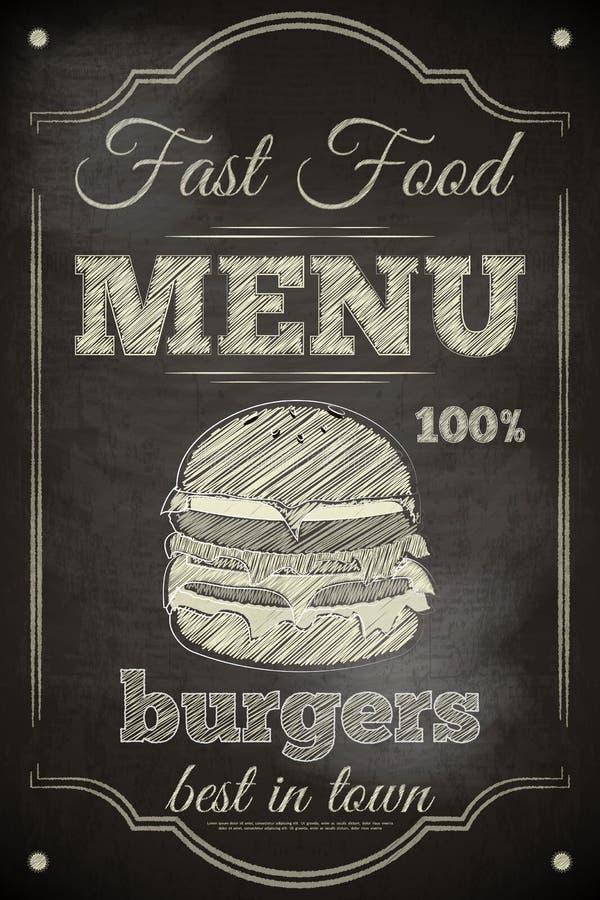 Burger-Menü lizenzfreie abbildung