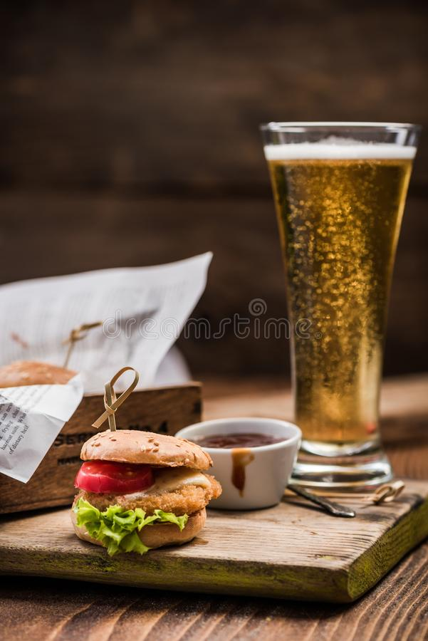 Burger menu in pub or bar royalty free stock images