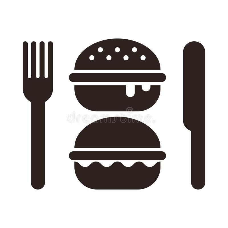 burger messer und gabel vektor abbildung illustration