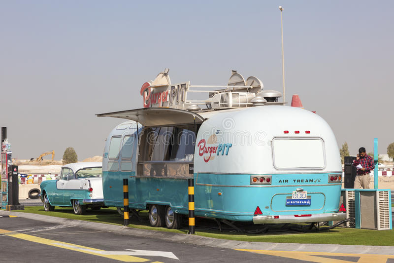 Burger PIT - a Food Truck in Dubai royalty free stock images
