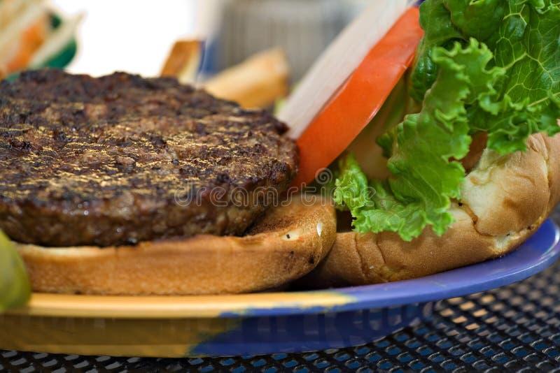 burger platter obraz stock