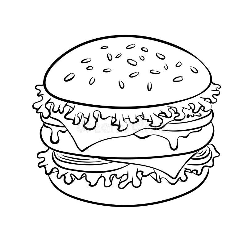 Burger Coloring Stock Illustrations 155 Burger Coloring Stock