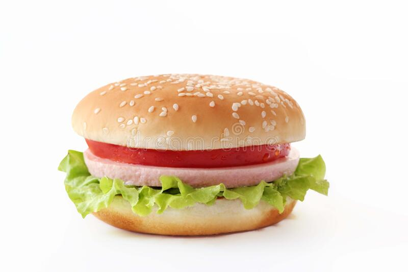 Burger In A Seeded Bun Free Public Domain Cc0 Image