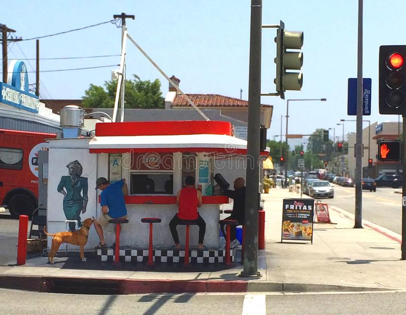 Burger stand in Los Angeles, California. royalty free stock photo