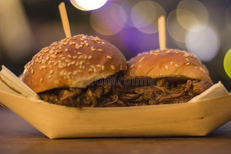 Burger, Truck Festival Melbourne royalty free stock images