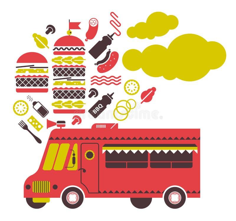 Burger truck illustration. vector illustration