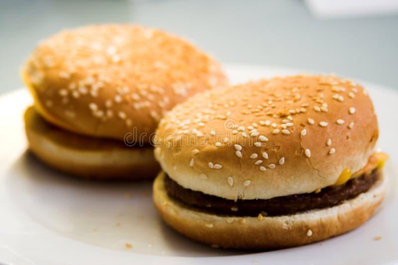 Burger uniformity royalty free stock photos