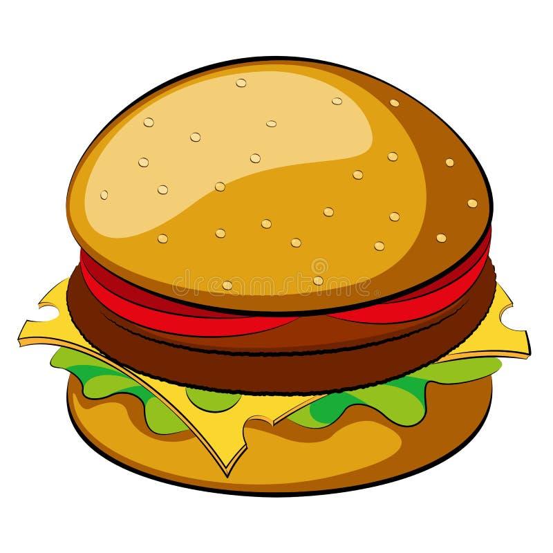 burger stock vector illustration of hamburger lettuce 35931663 rh dreamstime com hamburger clip art images hamburger clip art black and white