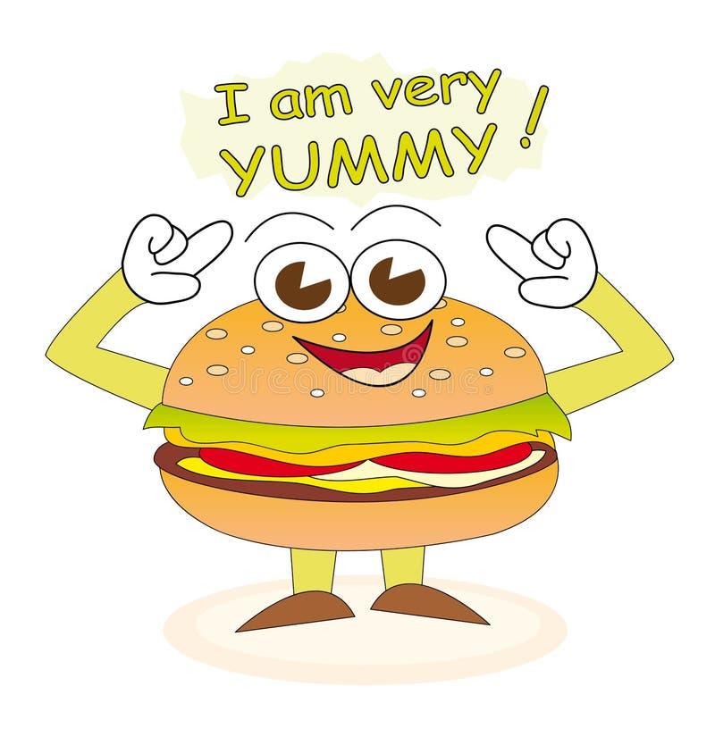 burger yummy απεικόνιση αποθεμάτων