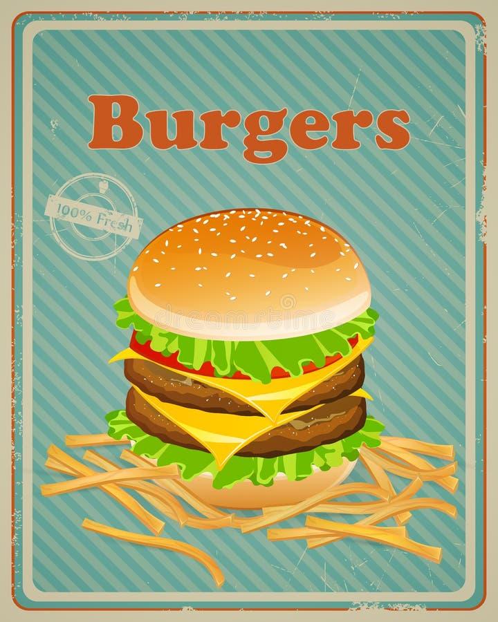 Burger-Zeichen lizenzfreie abbildung