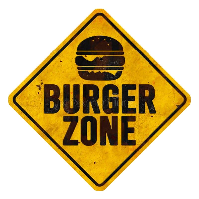 Burger Zone Sign stock image