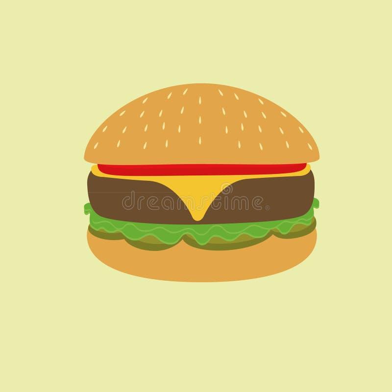 Burgerillustration stockbild
