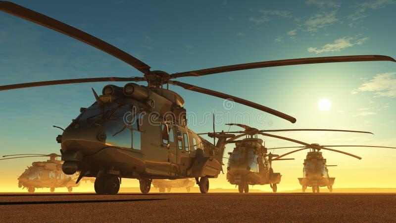 Burgerlijke helikopter royalty-vrije illustratie