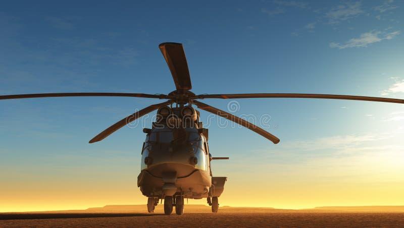 Burgerlijke helikopter vector illustratie