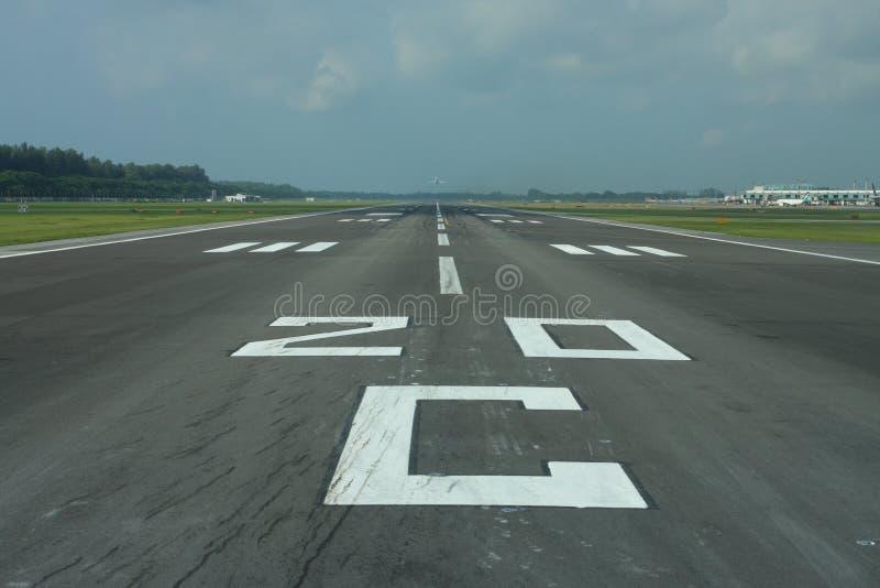 Burgerlijke luchthavenbaan stock fotografie