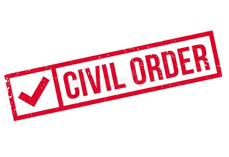 Burgerlijke Orde rubberzegel royalty-vrije illustratie