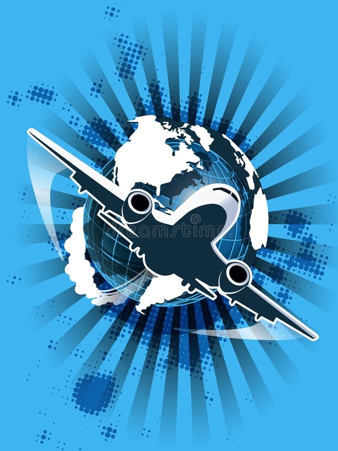 Burgerluchtvaart royalty-vrije illustratie