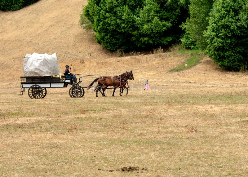 Burgeroorlog re-enactement in Duncans-Molens, CA, de V.S. royalty-vrije stock foto's