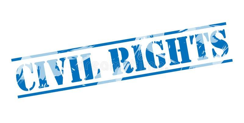 Burgerrechten blauwe zegel vector illustratie