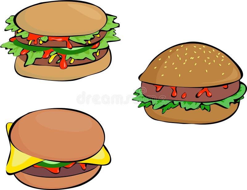 Download Burgers stock illustration. Illustration of bread, salad - 161409