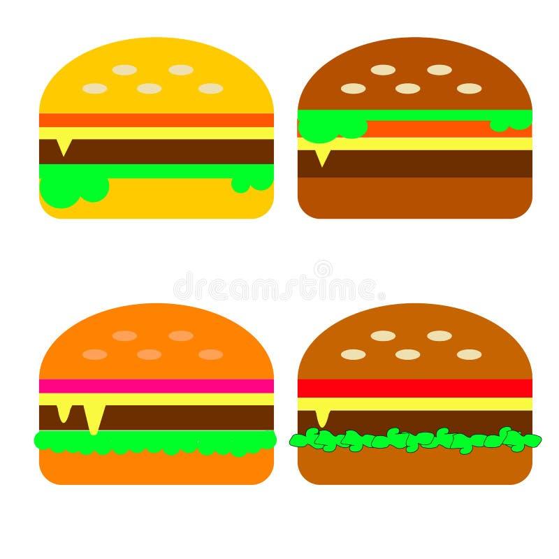 Burgers fast food royalty free stock photos