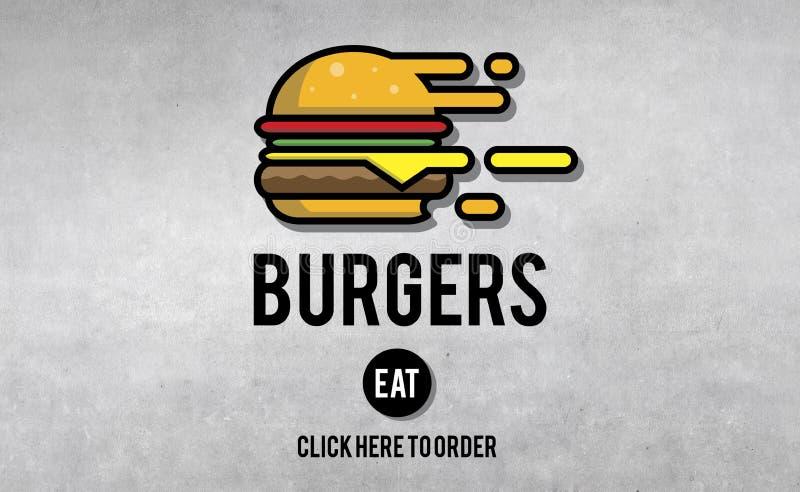 Burgers Junk Food Fatness Delicious Concept vector illustration