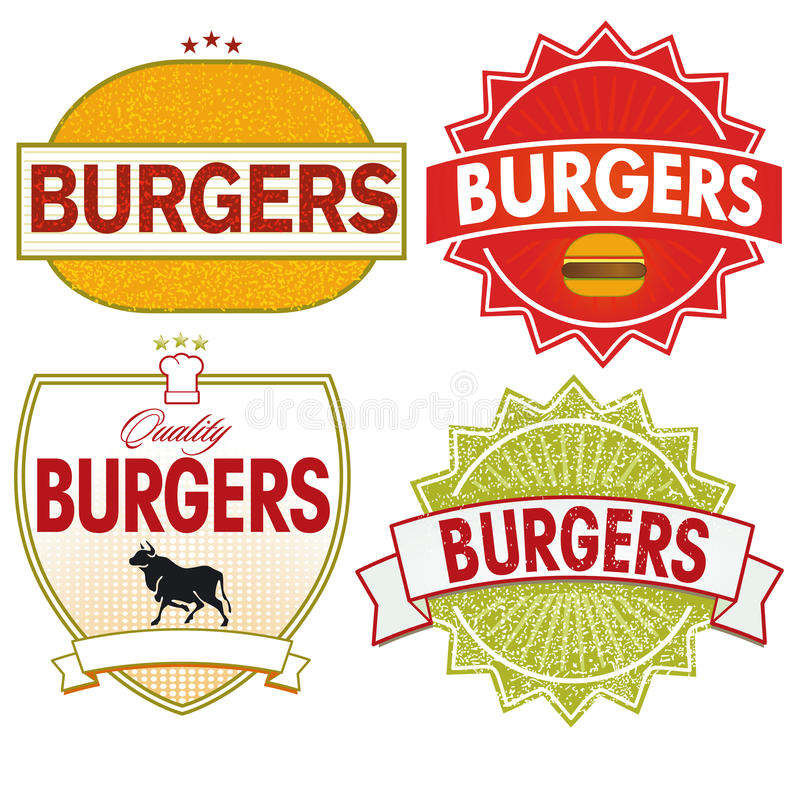 Burgers Label Royalty Free Stock Image