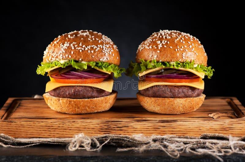 Burgershamburgers royalty-vrije stock foto's