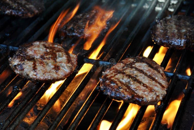 burgery grillów obraz stock