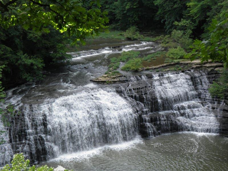 Burgess Falls Middle Falls foto de stock