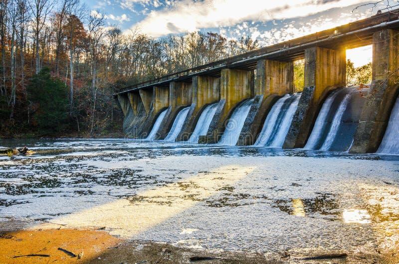 Burgess Falls State Park Dam, Tennessee fotografia de stock royalty free