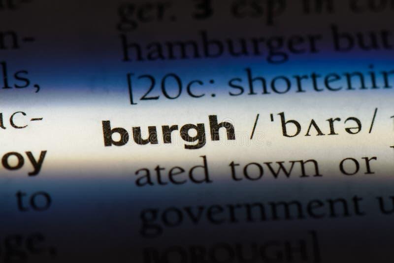 burgh стоковое фото