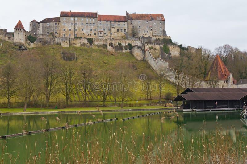 Burghausen城堡 图库摄影