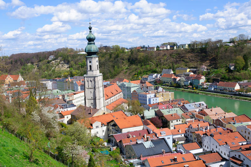 Burghausen, Germania immagine stock libera da diritti