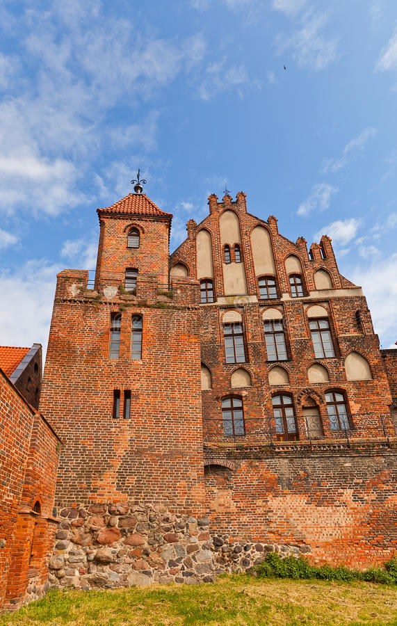 Burghers Salão (1489) em Torun, Polônia fotos de stock royalty free