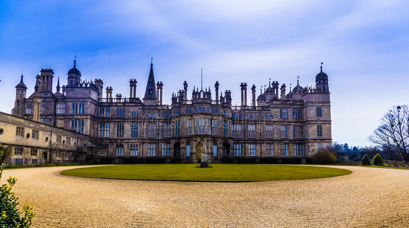 Burghleyhuis royalty-vrije stock fotografie