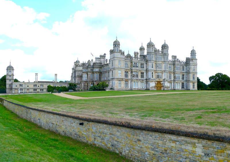 Burghleyhuis - Cambridgeshire - Verenigde Kindgom royalty-vrije stock foto's