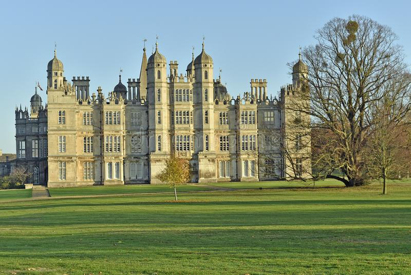 Burghleyhuis dichtbij Stamford stock afbeeldingen