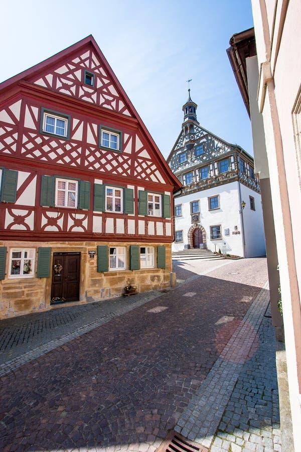 Burgkunstadt Franconia superior/Alemania imagen de archivo libre de regalías