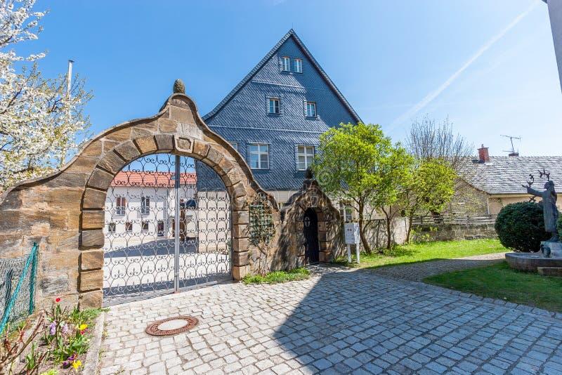 Burgkunstadt Franconia superior/Alemania fotos de archivo