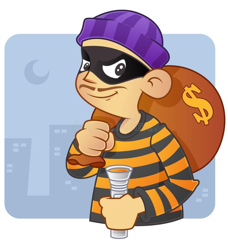 Burglar stock illustration
