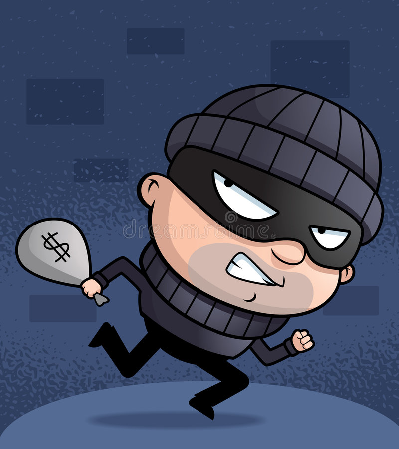 Download Burglar stock vector. Illustration of disguise, money - 8724043
