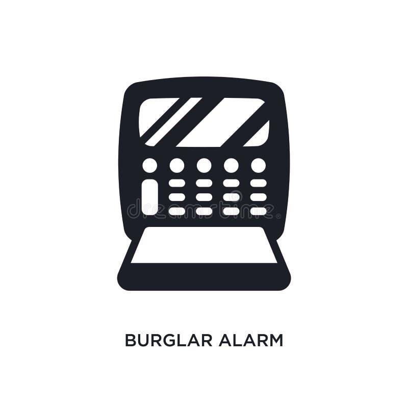 Burglar alarm isolated icon. simple element illustration from electronic devices concept icons. burglar alarm editable logo sign. Symbol design on white stock illustration