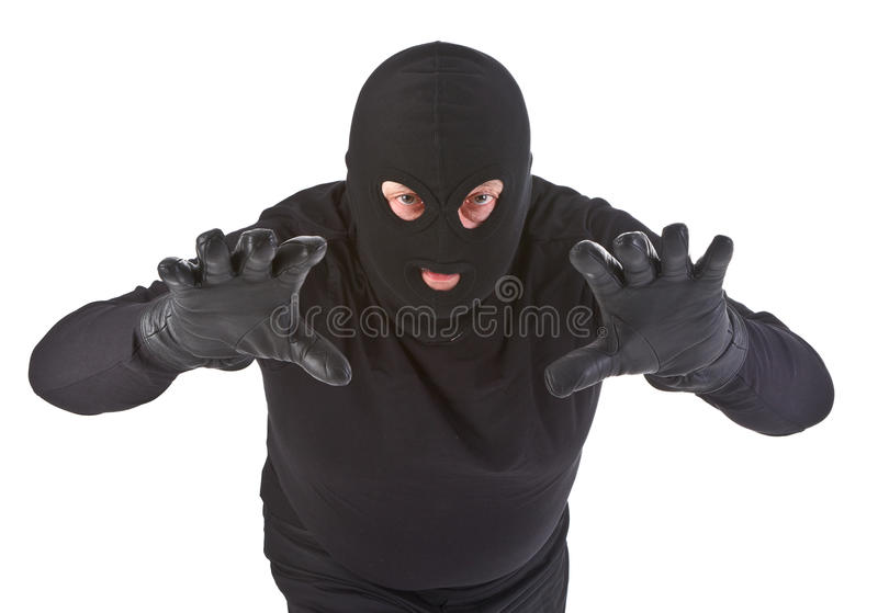 Download Burglar attack stock image. Image of costume, kidnapper - 27012437